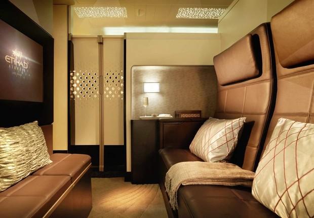 Cabine de primeira classe da Etihad Airways (Foto: Etihad Airways/Divulgação)
