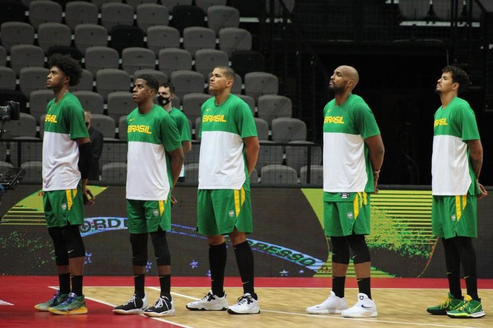 Seleção brasileira de basquete masculino brigará pelo título continental em casa — Foto: Reprodução/CBB