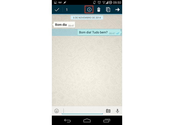 No Android, toque no i para obter mais informações (Foto: Reprodução/Paulo Alves)