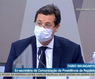 Fabio Wajngarten na CPI da Covid | Reprodução/TV Senado