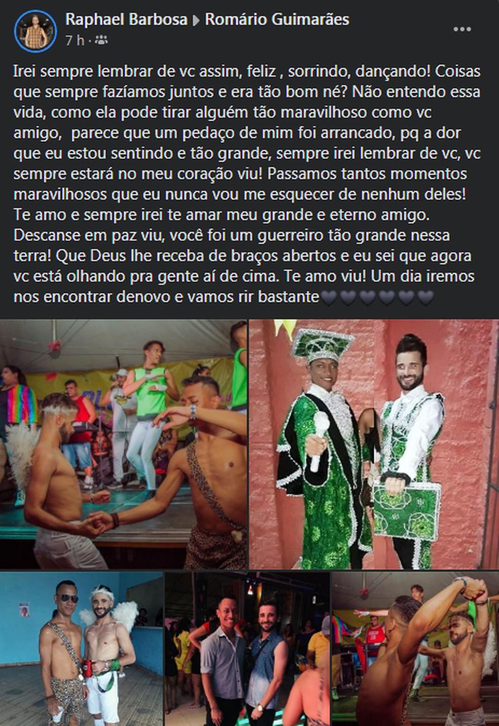 Amigos de Romário lamentam morte do atleta nas redes sociais — Foto: Redes Sociais