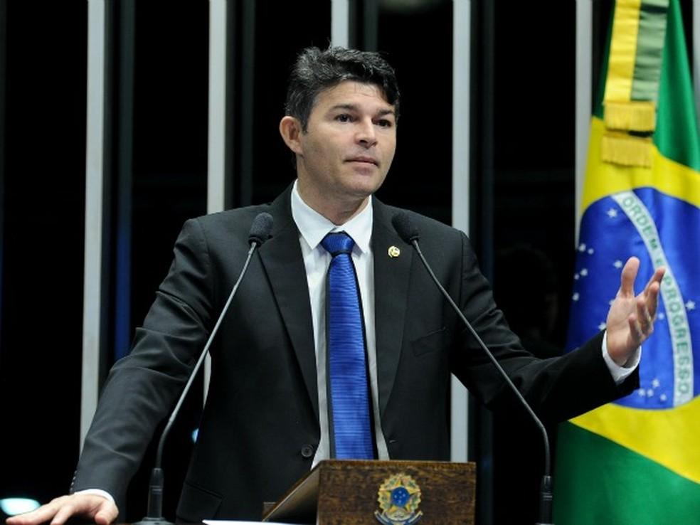 O senador José Medeiros (Podemos-MT), que teve o mandato cassado pelo TRE, disse que deve recorrer da decisão (Foto: Geraldo Magela/Agência Senado)