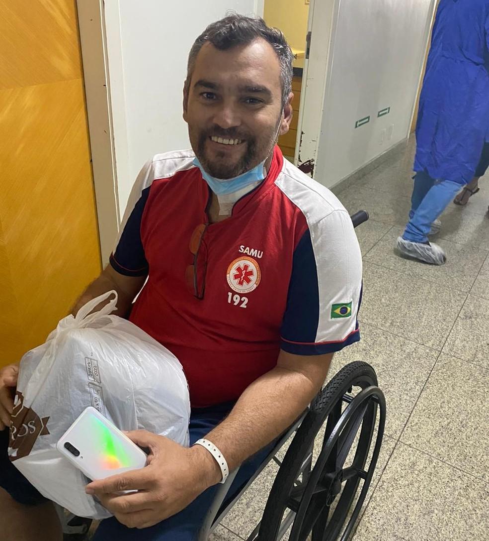 Hirai Alencar deixou hospital na quarta (20) — Foto: Cedida