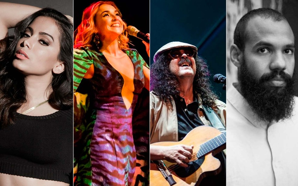 Anitta, Daniela Mercury, BaianaSystem e Moraes Moreira fazem shows em prévias no Recife e em Olinda (Foto: Arte/G1)