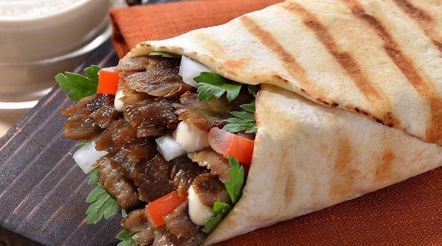 Shawarma servido no restaurante New Shawarma (Foto: Divulgação)
