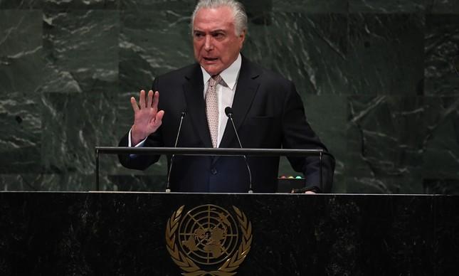 Temer na Assembleia Geral da ONU