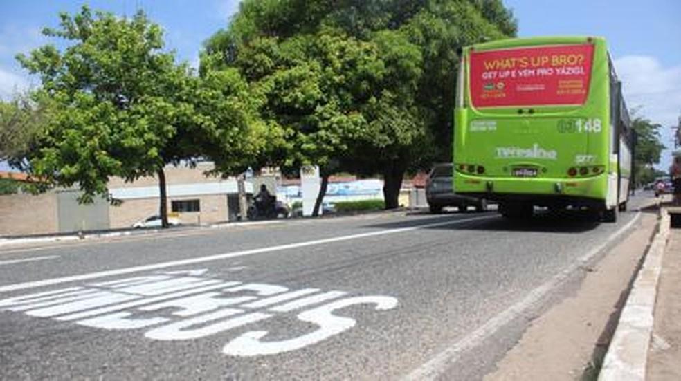 Corredor de ônibus em avenida no bairro Dirceu Arcoverde. — Foto: Divulgação/Prefeitura de Teresina