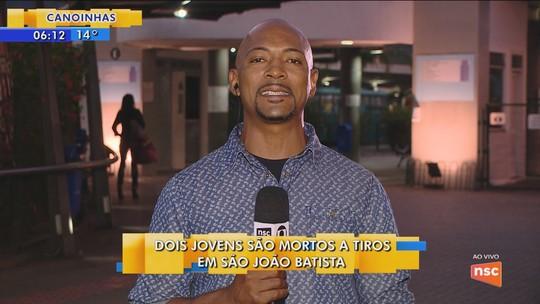Dupla é morta a tiros na SC-410, em São João Batista