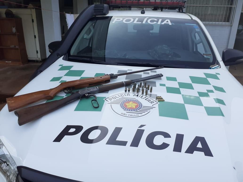 Polícia Ambiental apreende armas e munições com irmãos em Cosmorama