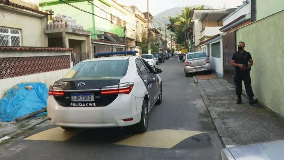 MPRJ faz operação contra suspeitos de extorsão — Foto: Reprodução/TV Globo