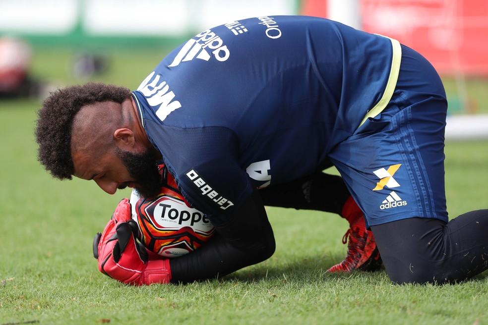 Alex Muralha tem treinado normalmente desde que se reapresentou, no dia 13 de janeiro (Foto: Gilvan de Souza/Flamengo)
