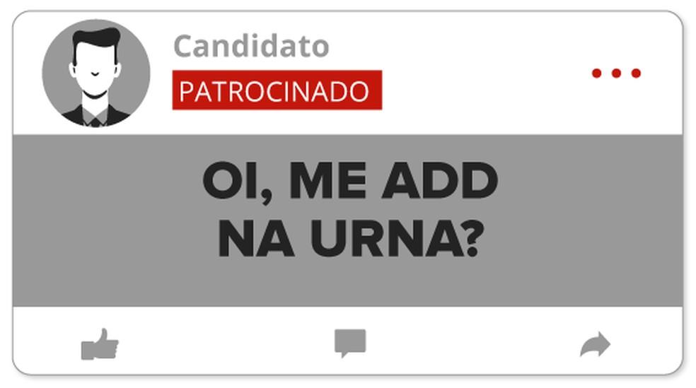 Selo candidatos nas redes (Foto: Arte/G1)