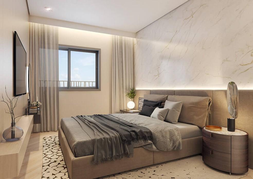 Apartamentos têm opções de plantas com até 3 dormitórios — Foto: BKO Incorporadora/Divulgação