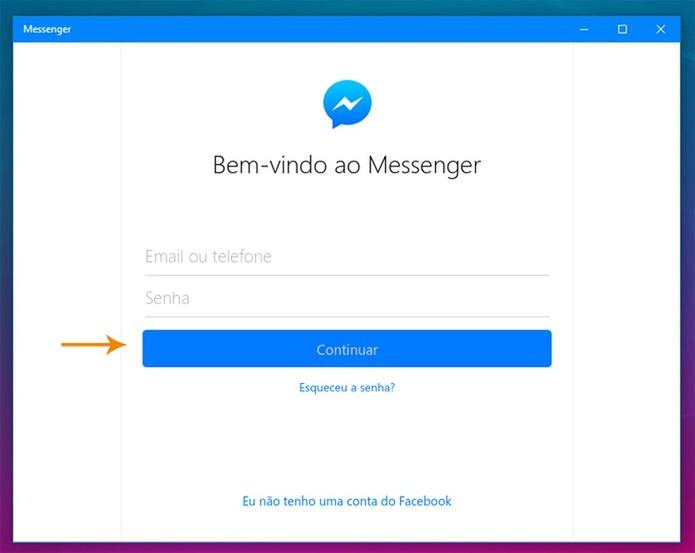 Preencha o seu email e senha do Facebook (Foto: Reprodução/Pedro Cardoso)