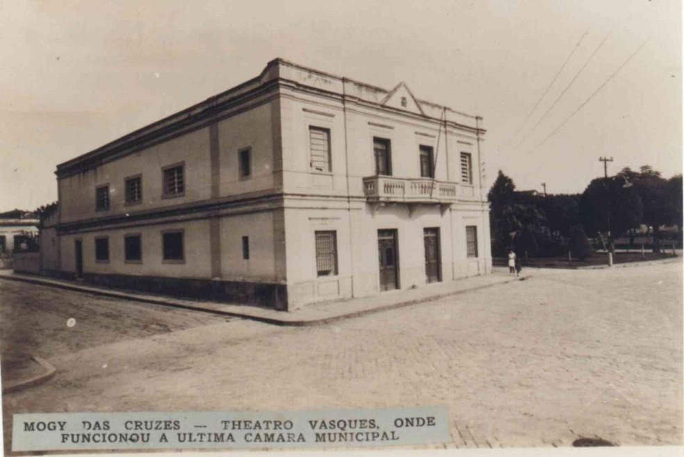 Câmara Municipal de Mogi em 1936 — Foto: Arquivo Histórico/Acervo