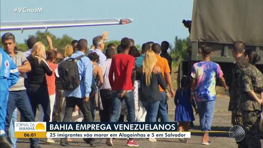 'Dou graças a Deus por essa nova oportunidade', diz refugiado da Venezuela que foi recebido na Bahia