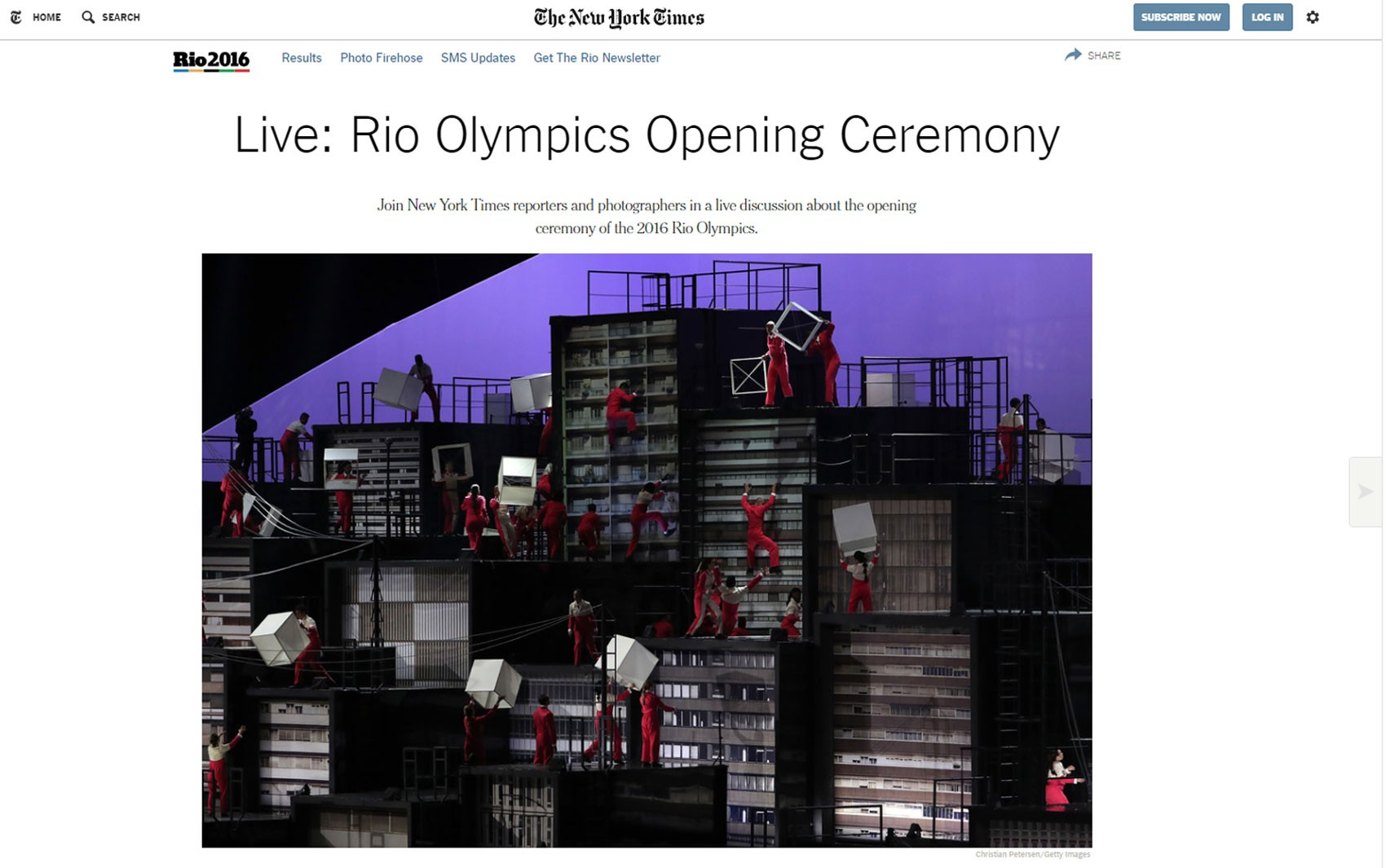'The New York Times' teve tempo real e espaço para comentários de leitores
