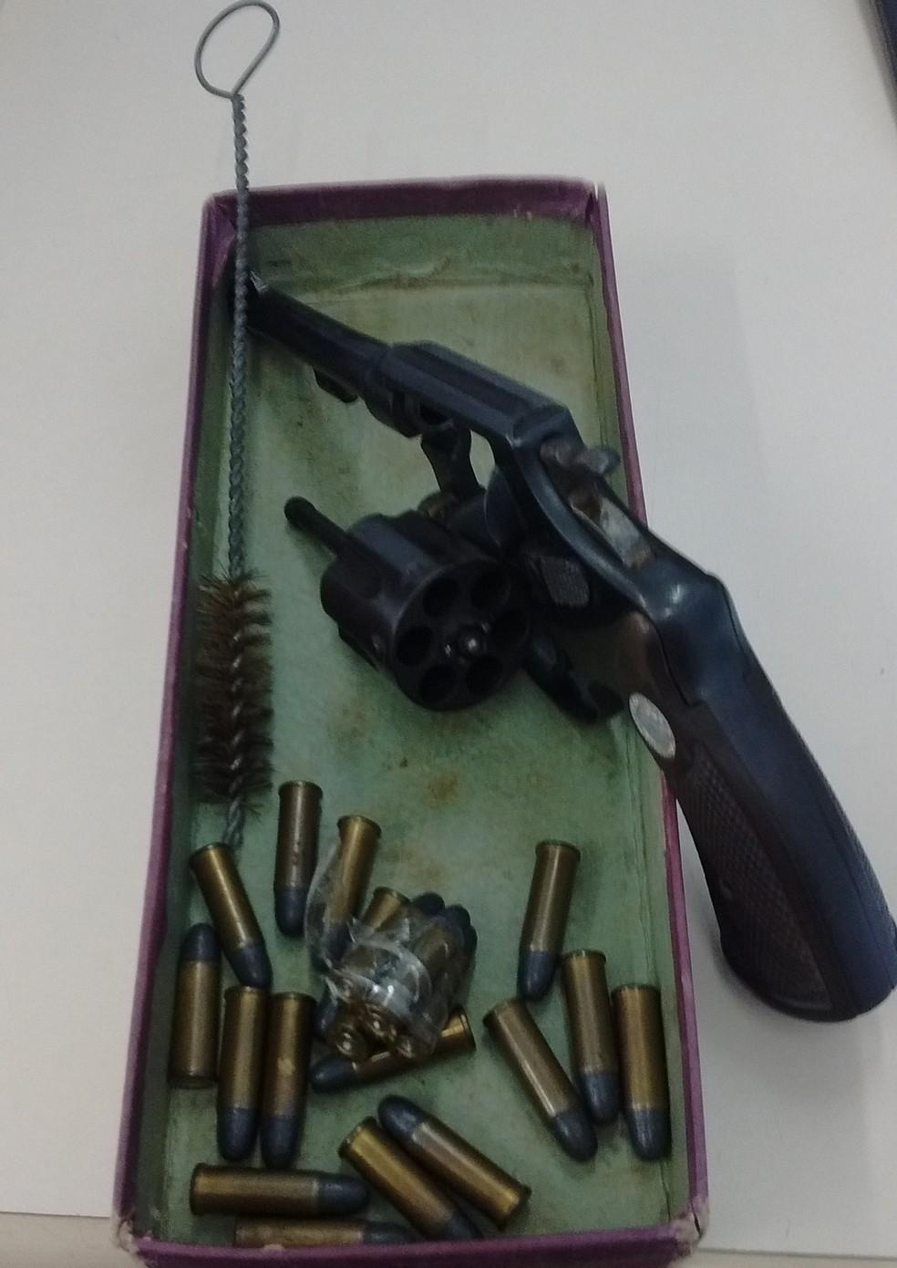 Adolescente foi apreendida em escola de Cambé com arma e munição (Foto: DIvulgação/Polícia Civil do Paraná)