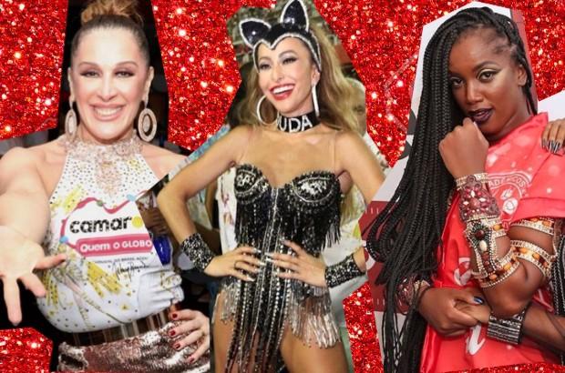 Claudia Raia, Sabrina Sato e Iza passaram pelo camarote da Quem/O Globo (Foto: Reprodução)