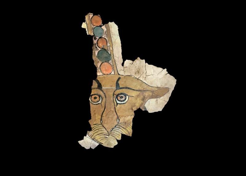 Desenho De Leopardo E Encontrado Em Sarcofago Egipcio De 2700 Anos