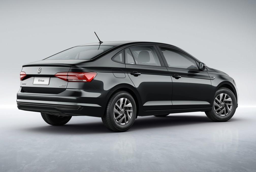 Volkswagen Virtus Sense tem motor 1.6 e câmbio automático de 6 marchas — Foto: Divulgação/Volkswagen