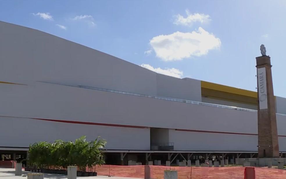 Shopping Camará fica em Camaragibe, na Região Metropolitana do Recife (Foto: Reprodução/TV Globo)