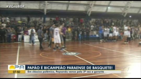 Paysandu vence o Remo pela terceira vez e conquista o bi do Parazão de Basquete. Assista: