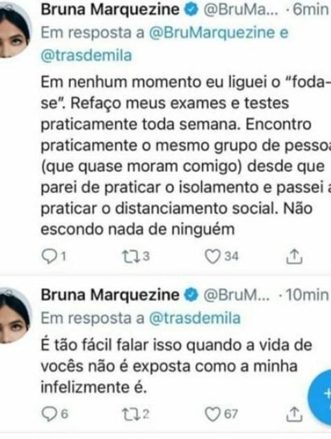 Bruna Marquezine discute com internauta no Twitter (Foto: Reprodução)