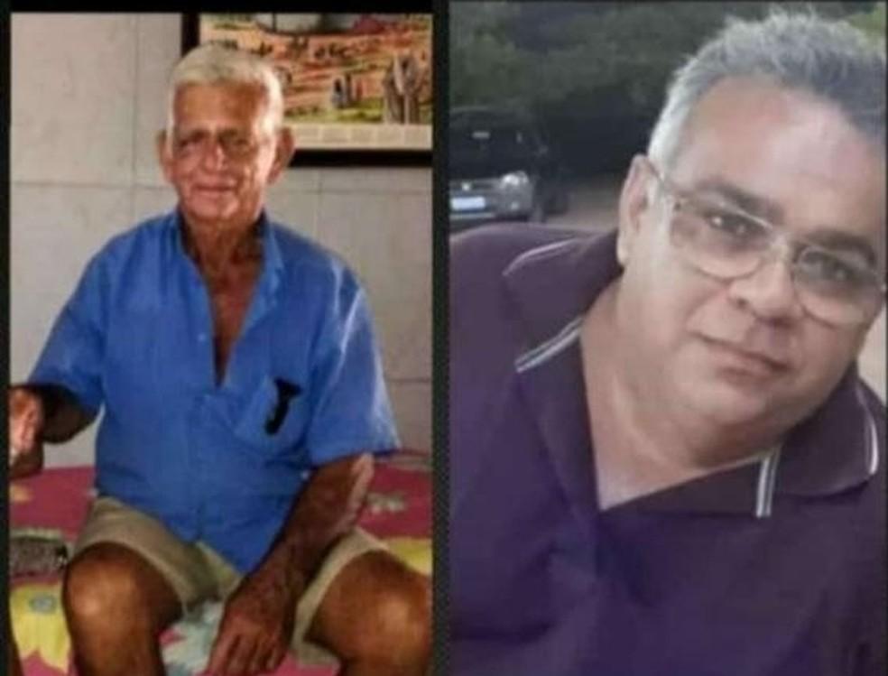Deoclecio Fernandes de Oliveira e João Batista Fernandes de Oliveira morrem com Covid-19 com menos de meia hora de diferença. — Foto: Cedida