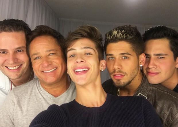 Pedro Leonardo, Leonardo, João Guilherme, Zé Felipe e Matheus Vargas (Foto: Reprodução/Instagram)