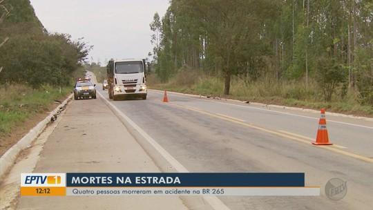 Polícia investiga causas do acidente que matou 4 pessoas na BR-265 em Boa Esperança, MG