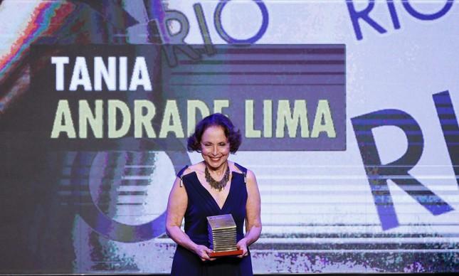 Tania Andrade Lima recebeu prêmio na categoria Rio