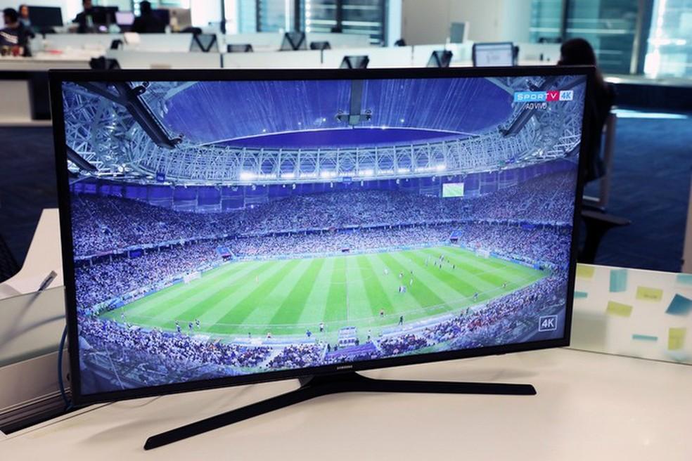 Modelos de TV Samsung MU6100 vão de 40 a 75 polegadas (Foto: Yuri Hildebrand/TechTudo)