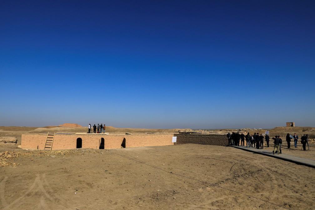 Vista do stio arqueolgico em Ur onde acredita-se nasceu o profeta Abrao em 6 de maro de 2021  Foto Thaier al-SudaniReuters