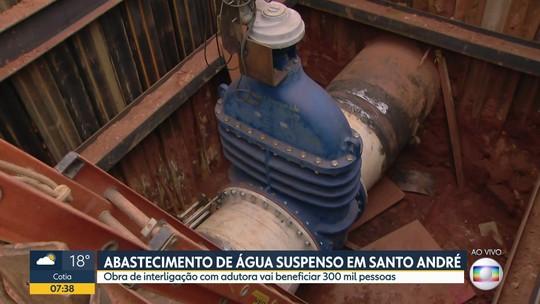 Abastecimento de água suspenso em Santo André