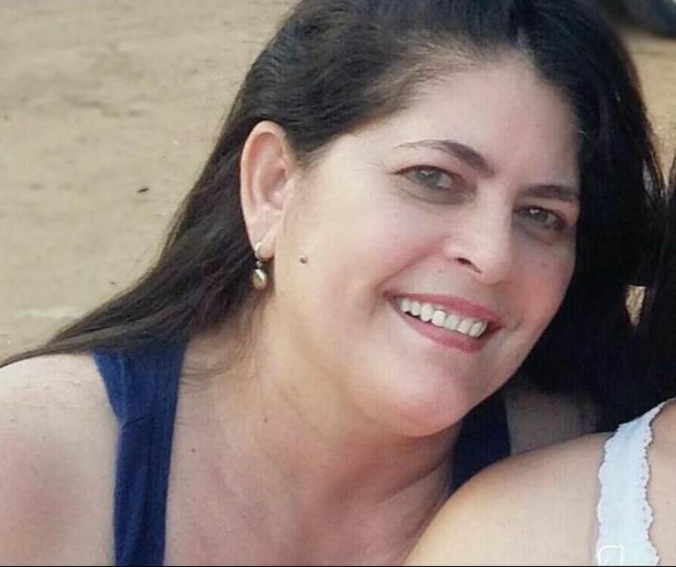 Professora participava de uma formação quando foi atingida pelo telão de LED (Foto: Arquivo pessoal)