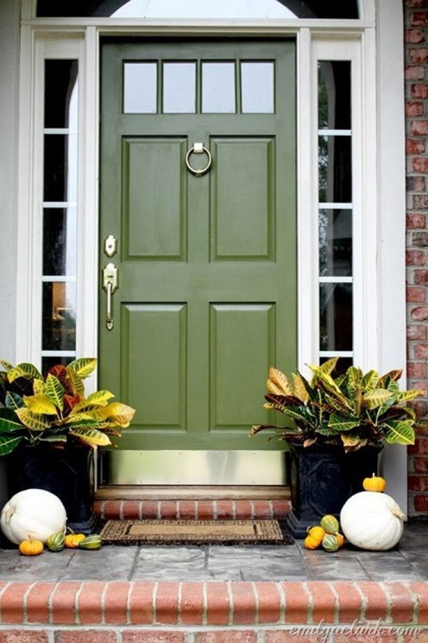 Olive Green Front Door Beautiful Front Doors Pinterest with  Green Front Doors  - desertsoundcolony (Foto: Divulgação)