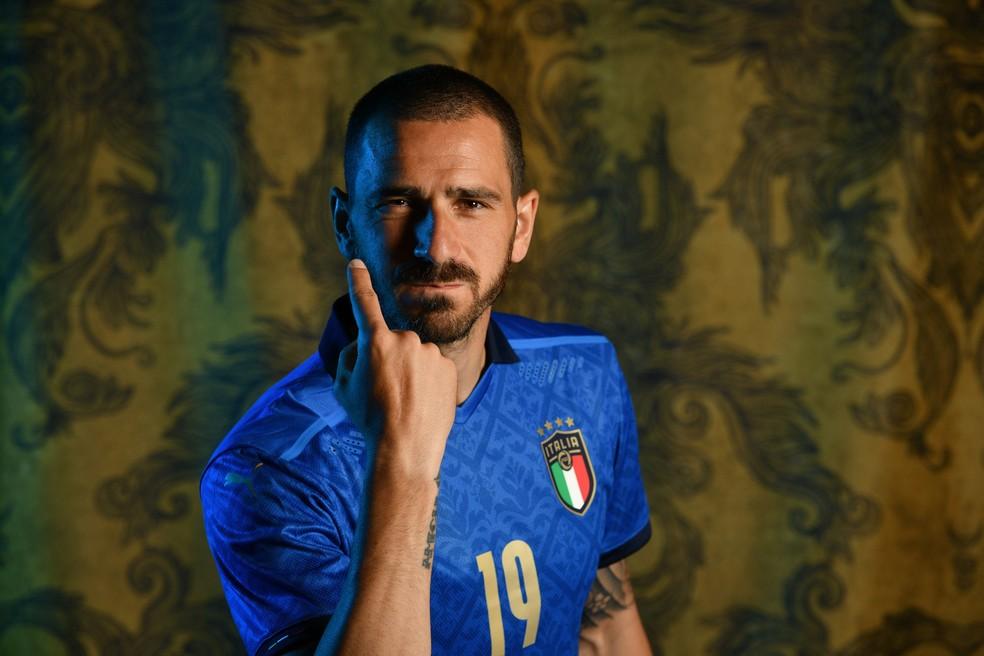 Bonucci atuou como titular em todos os jogos da Itália nesta Euro 2020 — Foto: Getty Images