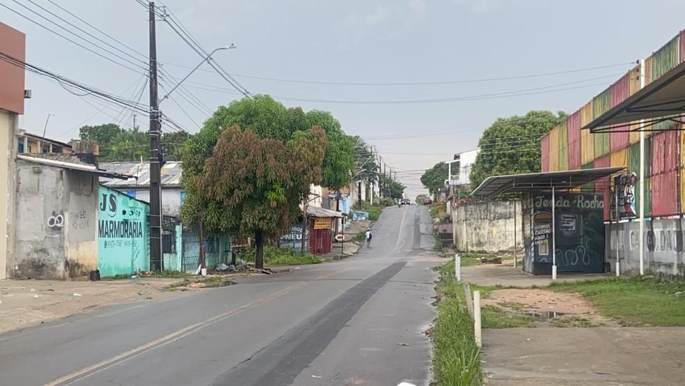 Rua Marquês de Tamandaré, bairro Flores, onde o suspeito foi preso — Foto: Patrick Marques