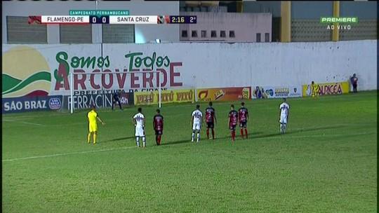Autor de gol do Santa Cruz, Augusto se cobra por melhora na temporada