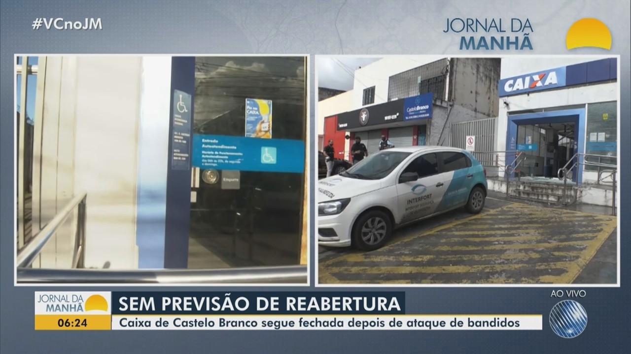 Agência bancária atacada por bandidos segue sem previsão de reabertura em Salvador