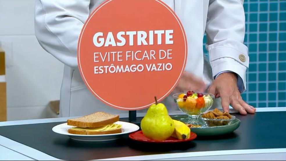 Evite ficar de estômago vazio. — Foto: Reprodução/TV Globo