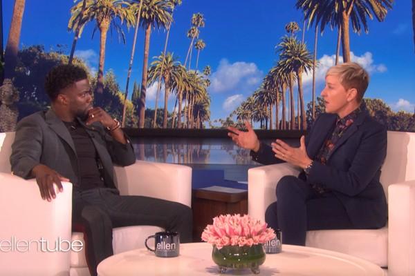 Kevin Hart e Ellen DeGeneres (Foto: Reprodução)