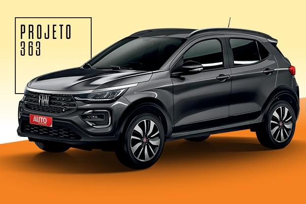 Projeto 363, o SUV da Fiat - Com preço estimado entre R$ 75 mil e  R$ 90 mil, novo SUV da Fiat vai brigar com as versões menos equipadas  de T-Cross, HR-V, Kicks e Creta (Foto: Projeção: João Kleber Amaral)