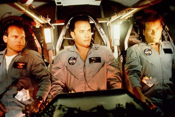 Kevin Bacon, Tom Hanks e Bill Paxton em Apollo 13: Do Desastre ao Triunfo (Foto: Divulgação)