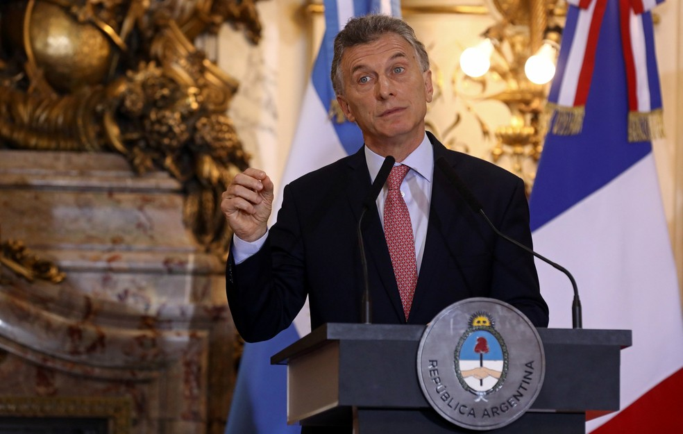 Maurício Macri, presidente da Argentina — Foto: REUTERS/Agustin Marcarian