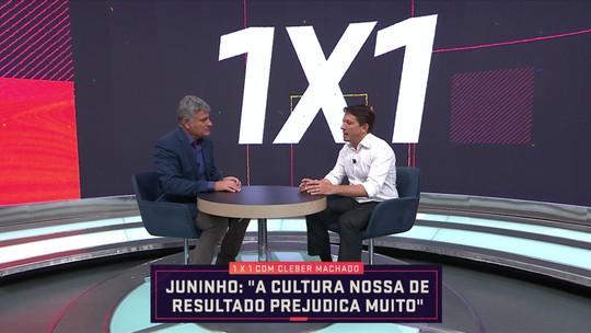 """""""1x1"""" com Cléber Machado: Juninho Paulista fala sobre cargo na CBF e cultura de resultado"""