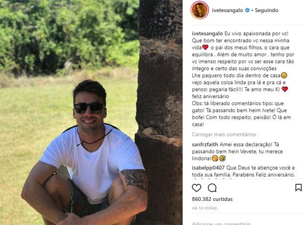 Ivete Sangalo parabeniza Daniel Cady (Foto: Reprodução/Instagram)