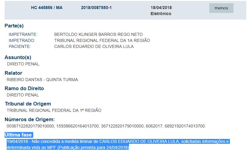 STJ nega segundo habeas corpus ao secretário de saúde do Maranhão