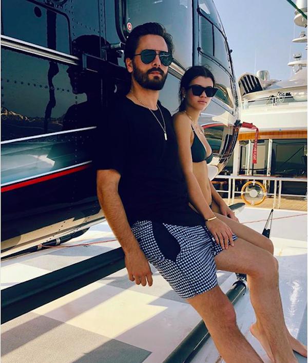 A modelo Sofia Richie com o namorado, o empresário Scott Disick (Foto: Instagram)
